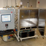 This thermal vacuum chamber is fit with a robust and efficient cascade refrigeration systems.
