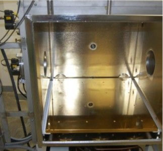 THERMAL PLATEN, BRIGHT NICKEL POLISHED, CUSTOM DESIGNED TO CUSTOMER SPECIFIED REQUIREMENTS FOR THERMAL COHERENCE AND RAMP RATE TO THE TEST SIMULATION.